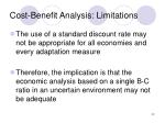 cost benefit analysis limitations22