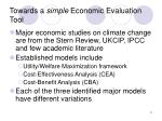 towards a simple economic evaluation tool