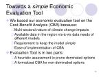 towards a simple economic evaluation tool13