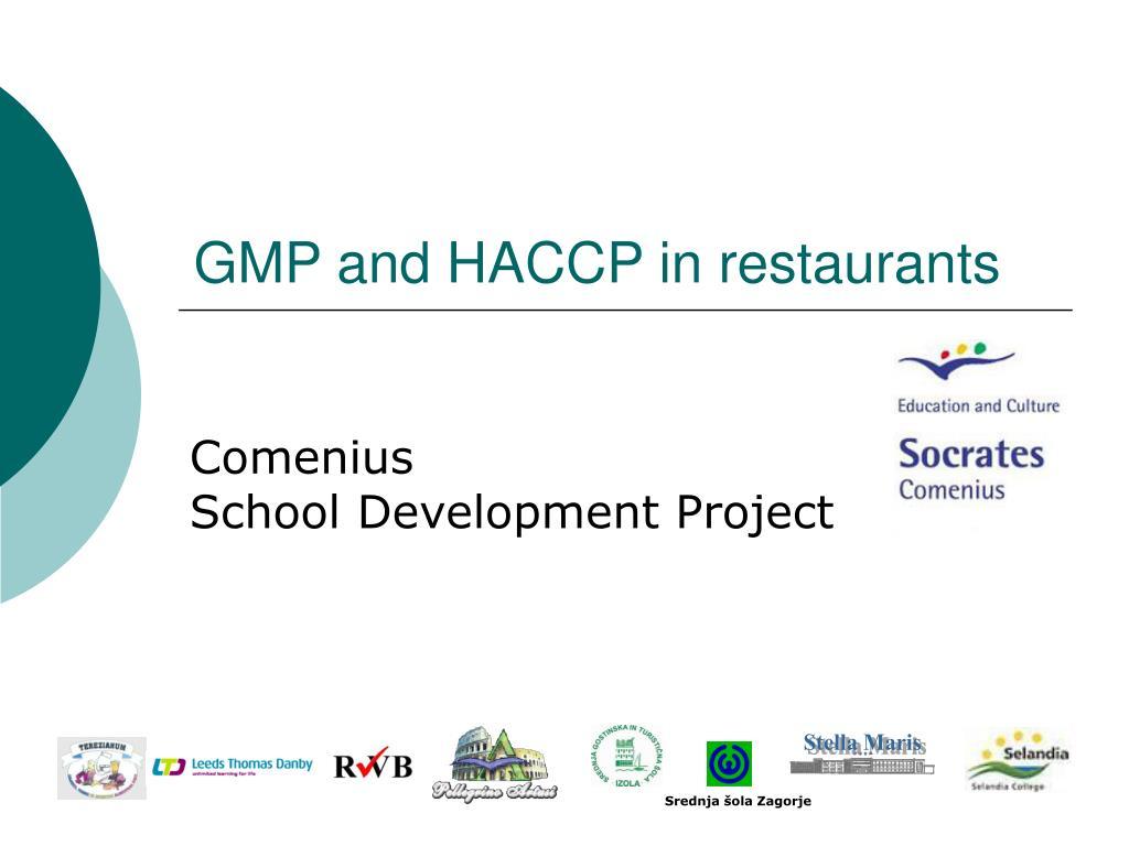 gmp and haccp in restaurants l.