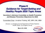 phase ii guidance for target setting and healthy people 2020 topic areas