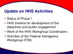 update on hhs activities6