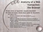 anatomy of a web transaction the browser