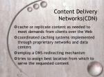 content delivery networks cdn