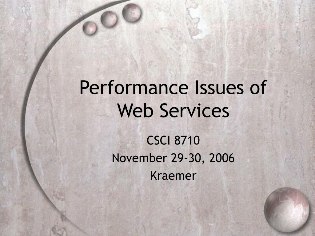 performance issues of web services l.