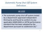 automatic pump shut off system definition