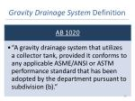 gravity drainage system definition