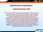 medical device reclassification