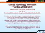 medical technology innovation the role of scenihr