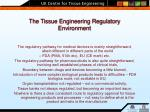 the tissue engineering regulatory environment