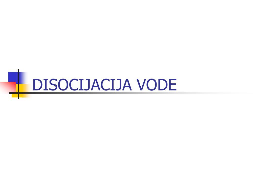 disocijacija vode l.