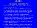 m abc historical perspective