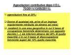 agevolazioni contributive dopo il d l 70 2011 13 05 2011