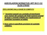 agevolazioni normative art 59 c1 c2 dlgs 276 03