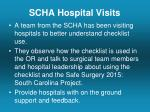 scha hospital visits