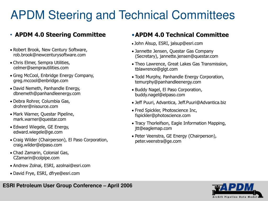 APDM Steering and Technical Committees