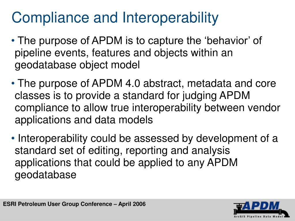 Compliance and Interoperability