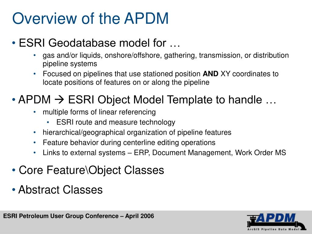 Overview of the APDM