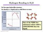 hydrogen bonding in h 2 o13