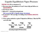 liquids equilibrium vapor pressure