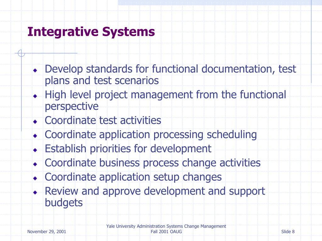 Integrative Systems