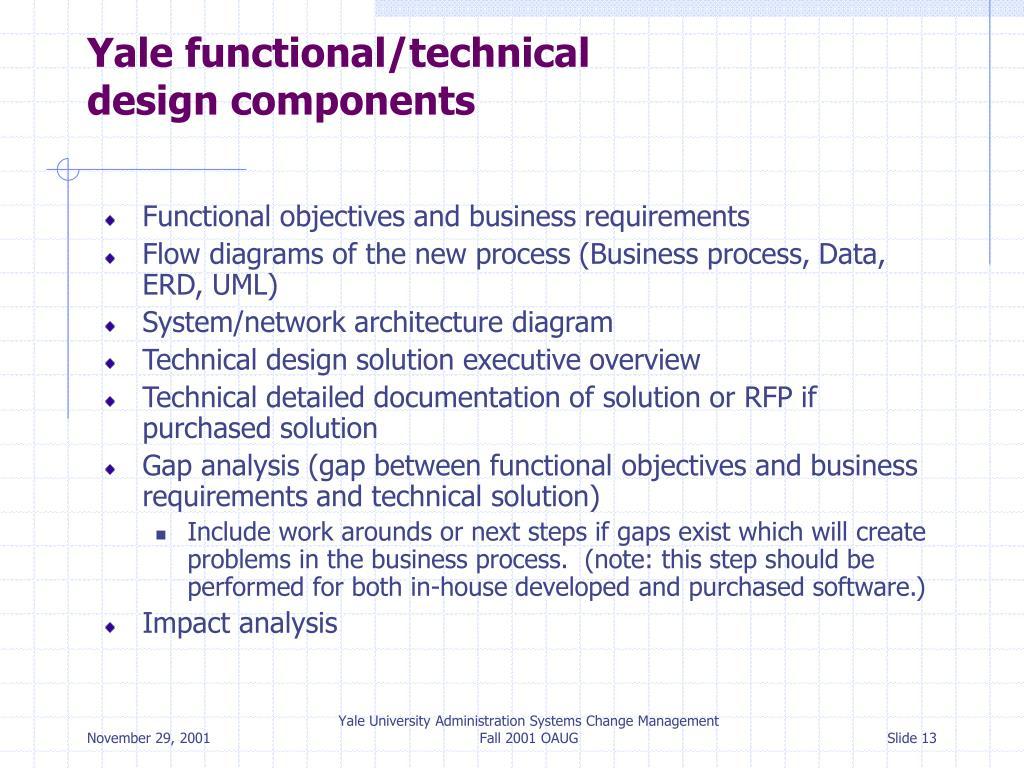 Yale functional/technical