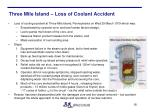 three mile island loss of coolant accident