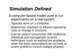 simulation defined