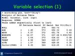 variable selection 1