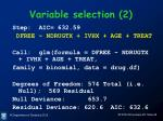 variable selection 2