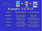examples use of gi