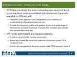 background uses of cdr data