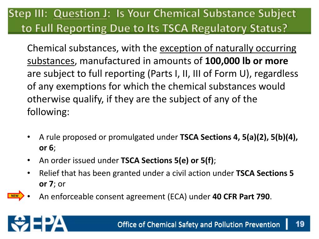 PPT - Overview of TSCA Chemical Data Reporting Requirements and e