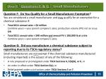step ii questions f g small manufacturers
