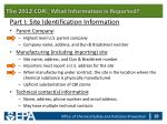 the 2012 cdr what information is reported24