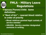 fmla military leave regulations