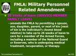 fmla military personnel related amendment