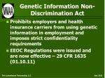 genetic information non discrimination act