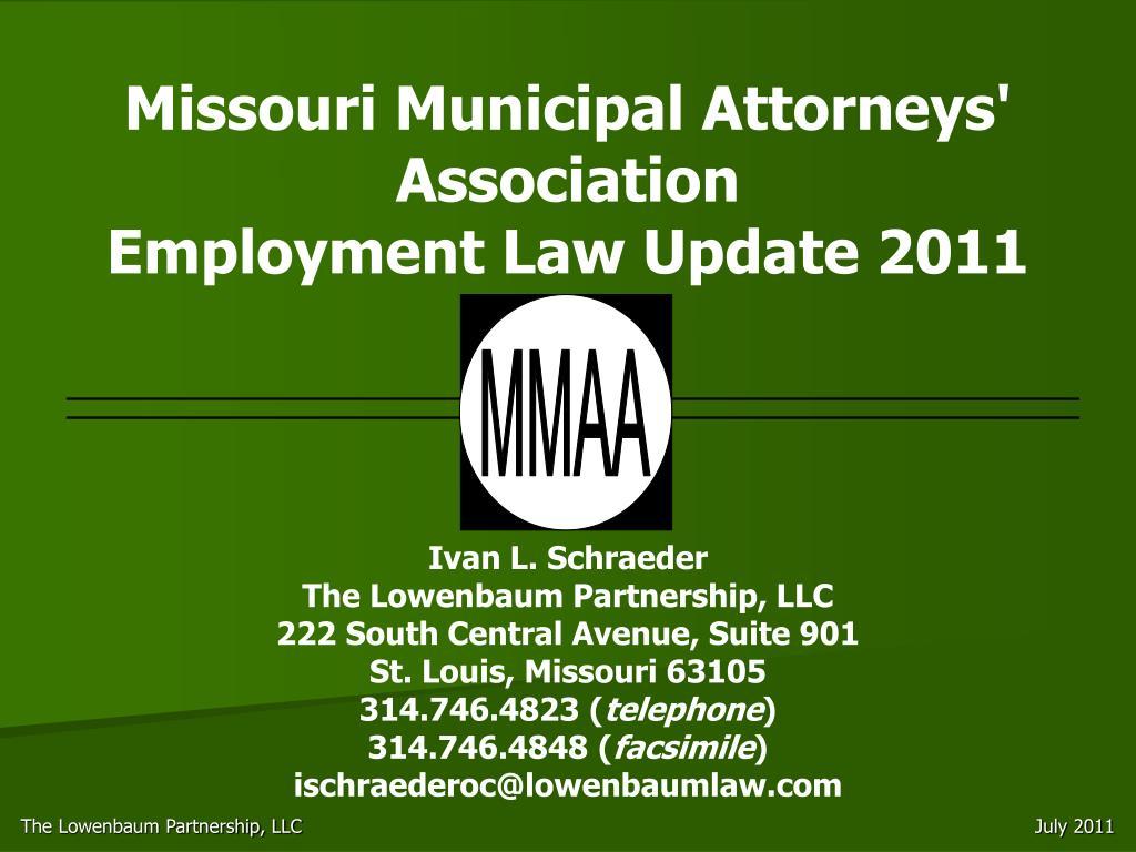 missouri municipal attorneys association employment law update 2011 l.
