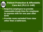 patient protection affordable care act pl111 148