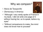 why we compare
