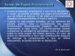 acred de pagos provisionales