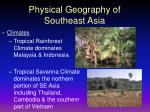 physical geography of southeast asia17