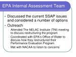 epa internal assessment team