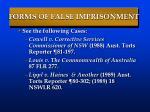 forms of false imprisonment