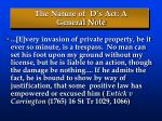 the nature of d s act a general note