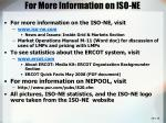 for more information on iso ne