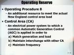 operating reserve
