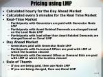 pricing using lmp