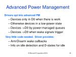 advanced power management